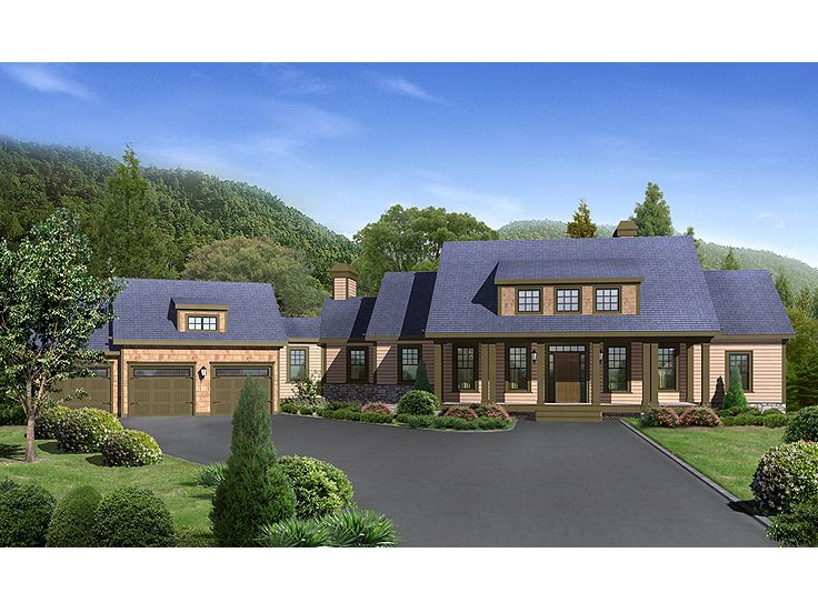 Front View Mountain House Plan, 053H-0021