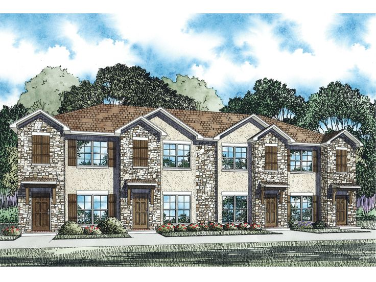 Multi-Family Home Design, 025M-0092