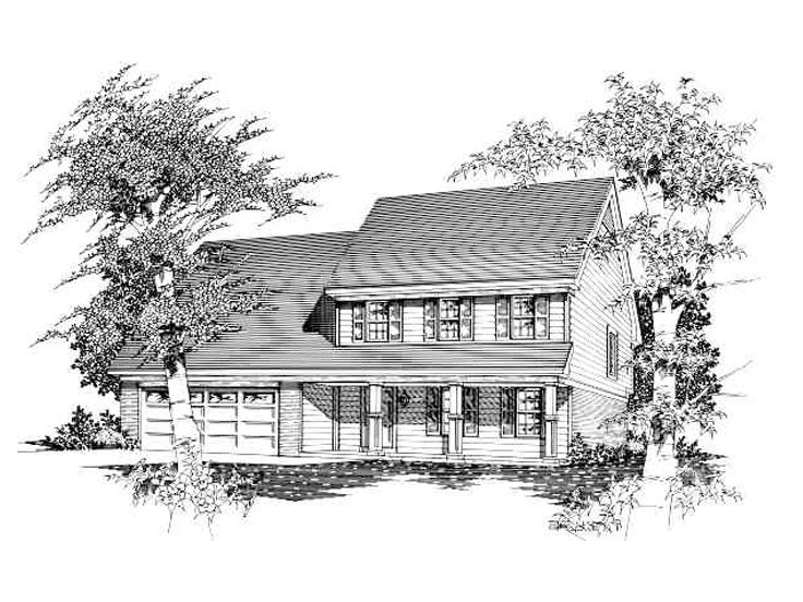 2-Story Country House, 061H-0022
