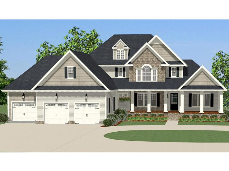 Two-Story, Traditional Home Plan