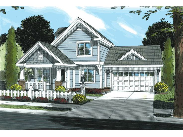 Small Craftsman House, 059H-0021