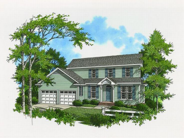 Two-Story House Plan, 030H-0050