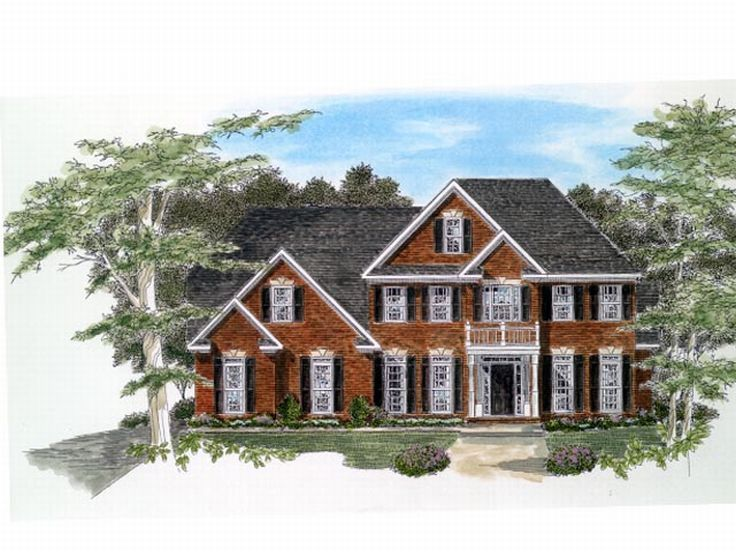 2-Story House Design, 019H-0090