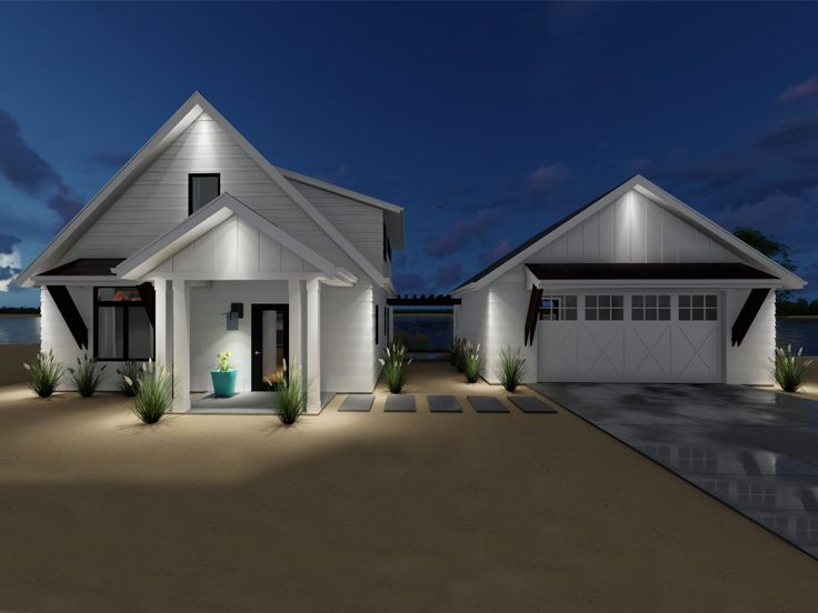 Two-Story House Plan, 050H-0130