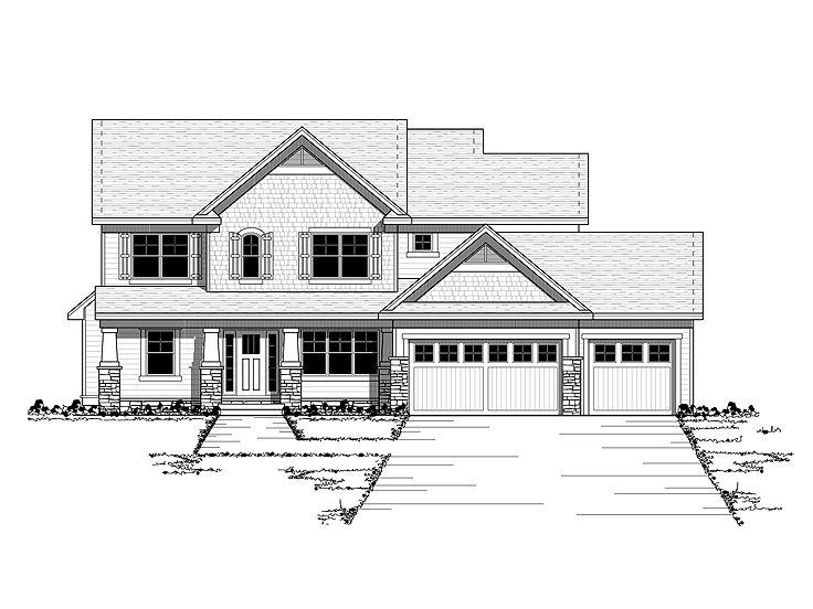 Arts & Crafts House Plan, 023H-0156