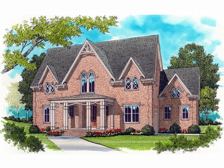 2-Story House Plan, 029H-0096