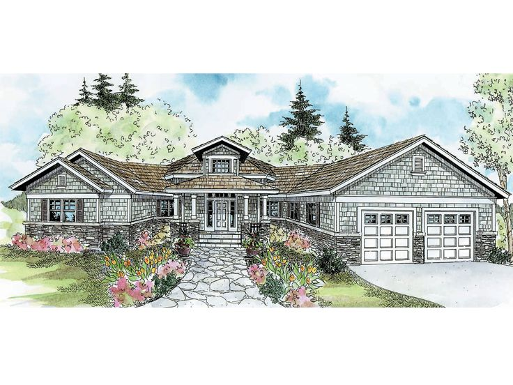 Craftsman House Plan, 051H-0043