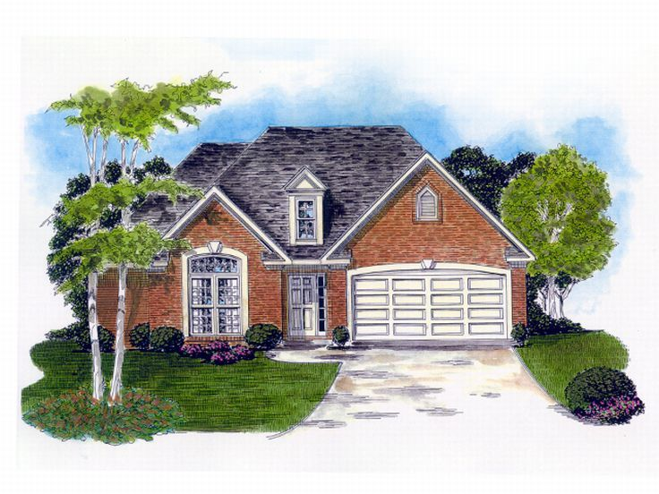 Ranch House Plan, 019H-0136