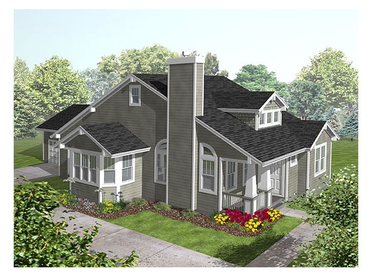 Bungalow Home Plan, 016H-0026