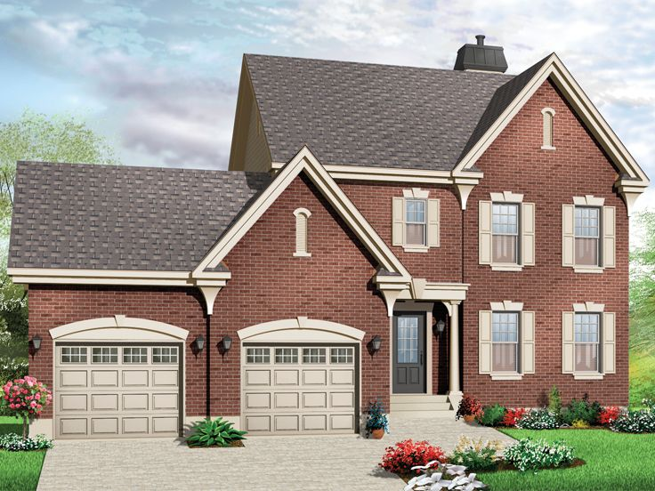 Two-Story House Plans | 2-Story Family Home Plan #027H ...