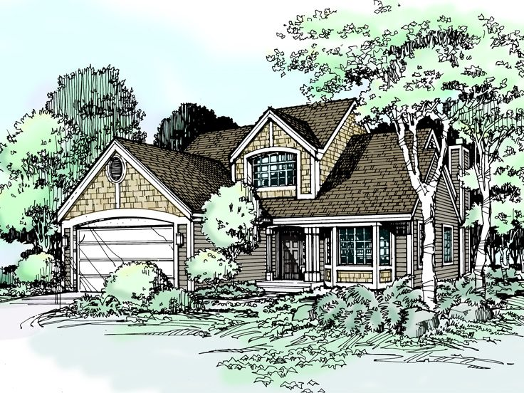Narrow Lot Home Plan, 022H-0077