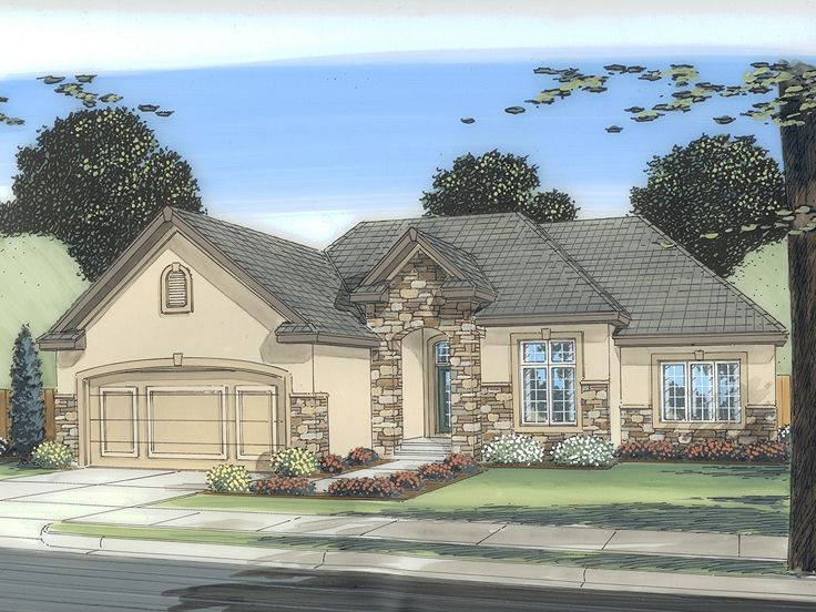 European House Plan, 050H-0001