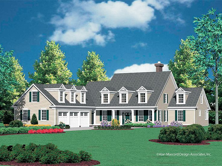 2-Story Country House, 034H-0214