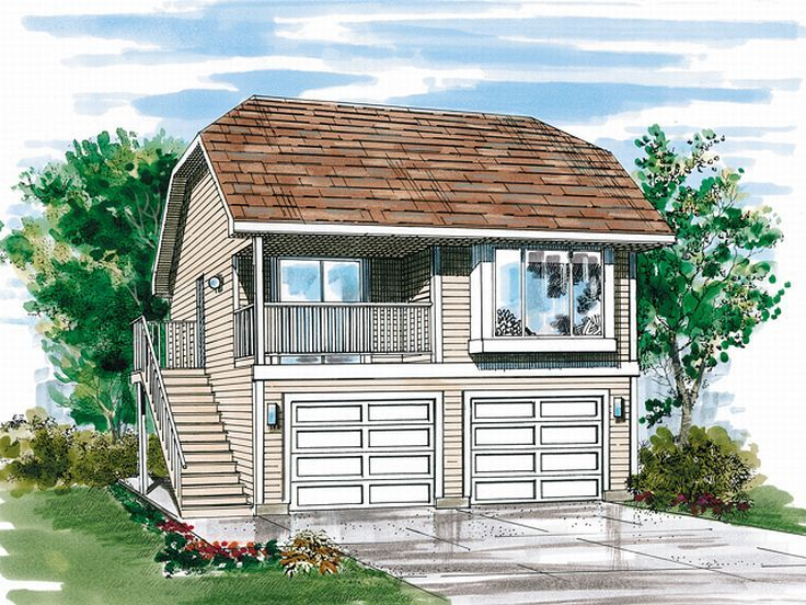 Wonderful 2 Bedroom Carriage House Plans #5: Carriage House Plan, 032G-0001