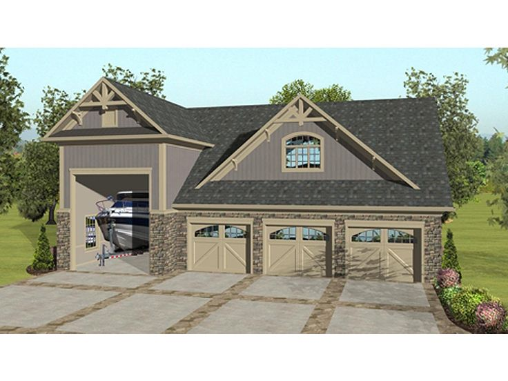 Carriage house plans carriage house plan with 3 car for Ranch style home plans with 3 car garage