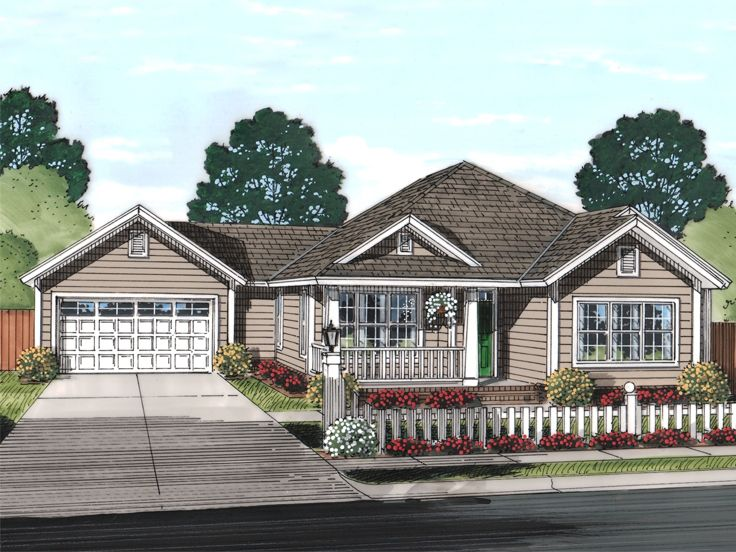 Ranch House Plan, 059H-0188