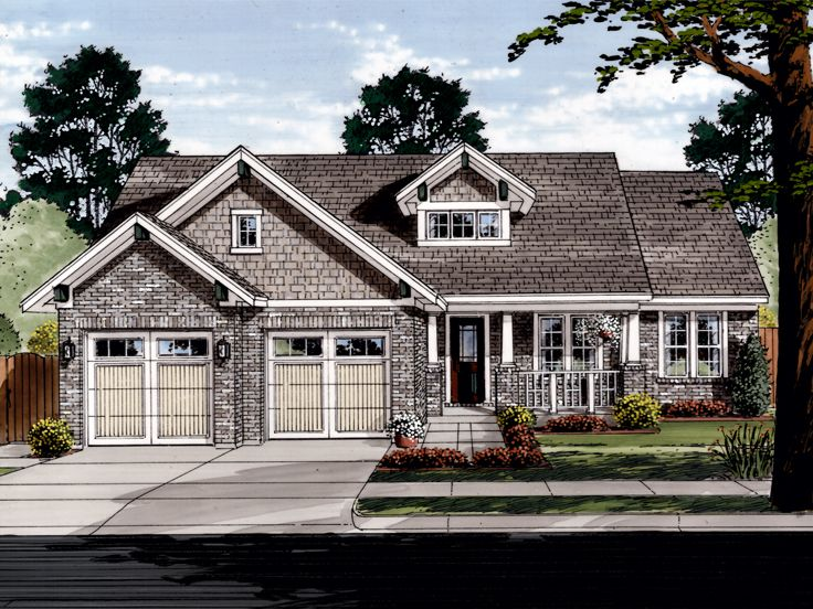 Ranch House Plan, 046H-0107
