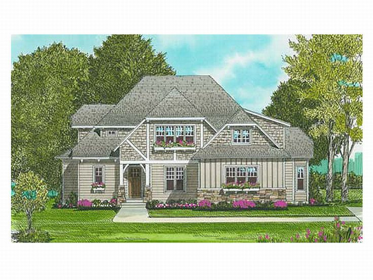 Craftsman House Plan, 029H-0025