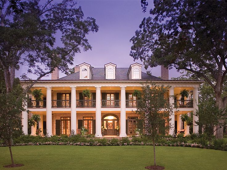 Southern House Plans Southern Home With Colonial Flair