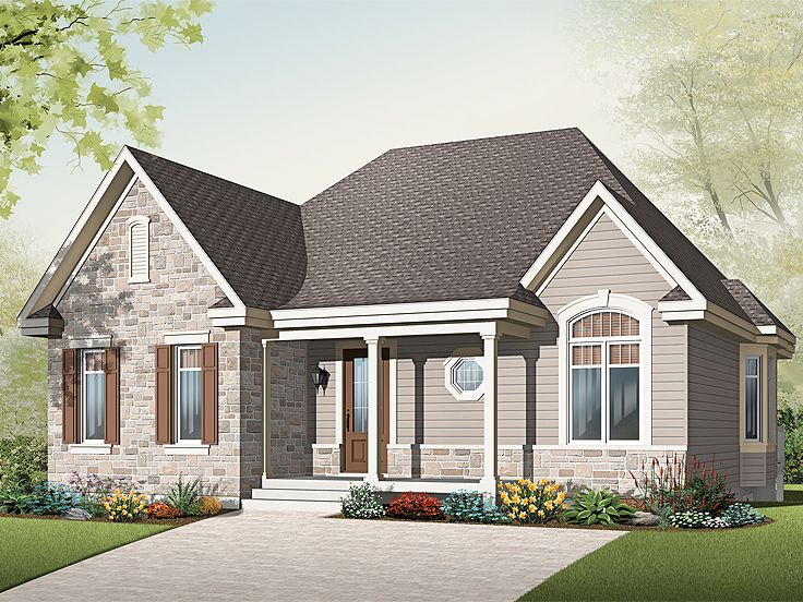 Cottage House Plan, 027H-0206