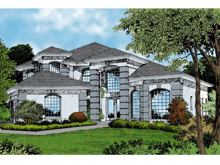 Two-Story House Plan, 043H-0140