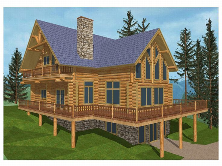 Log Home, Right/Rear, 012L-0019