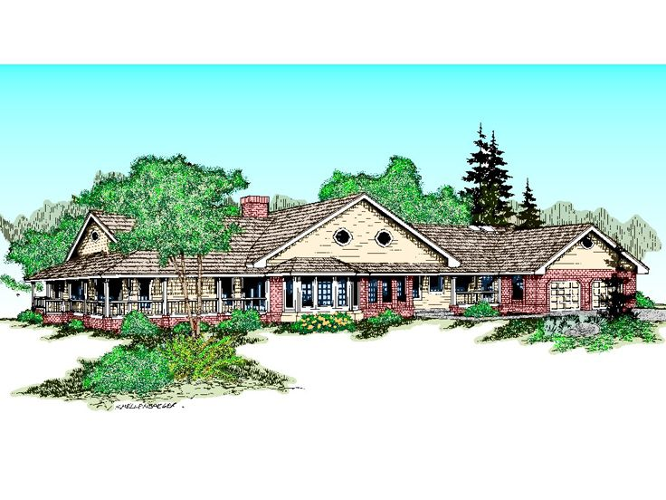 Country Home Plan, 013H-0018