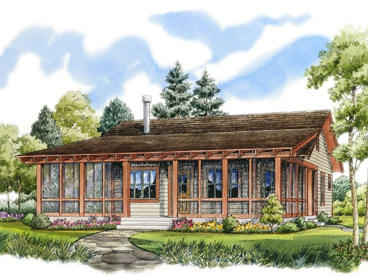 Plan 066h 0002 find unique house plans home plans and for Cool lake house plans