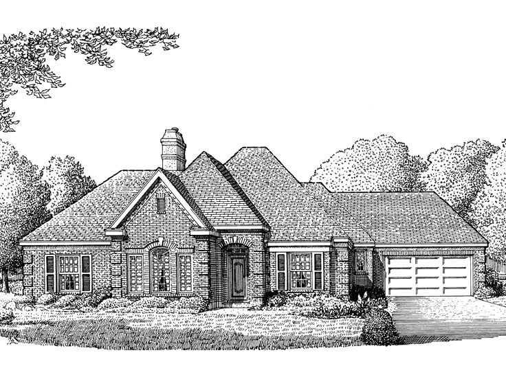 Traditional House Plan, 054H-0038