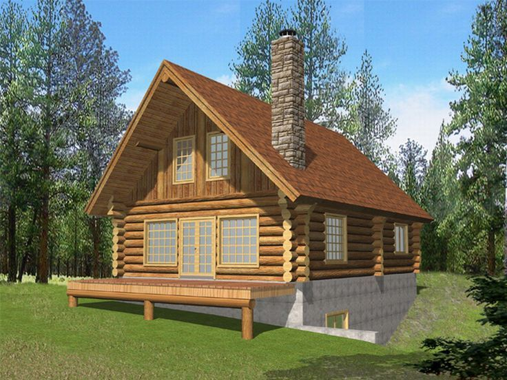 Log House Plan, 012L-0038
