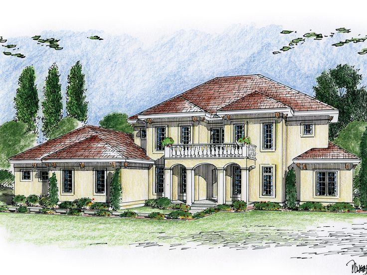 Tuscan Home Plan, 050H-0038