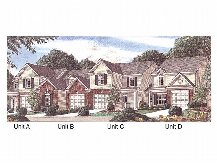 Narrow 3 story townhouse plans Townhouse plans with garage