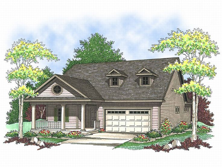 Empty Nester Home Plan, 020H-0142