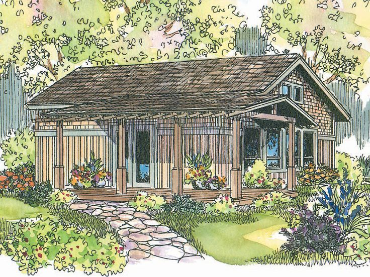 Cabin House Plan, 051H-0123