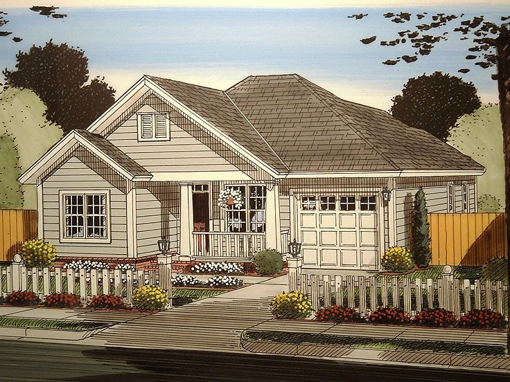 Small Ranch Home Plan, 059H 0157