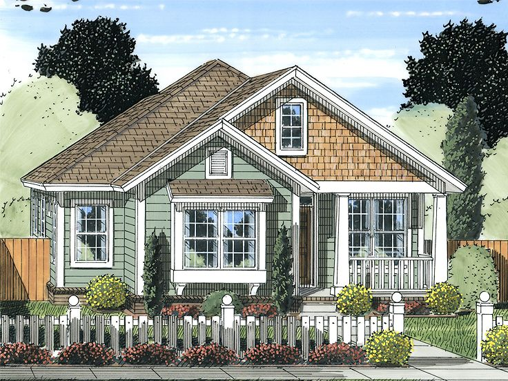 Narrow lot home plans narrow lot ranch house plan with for Narrow bungalow house plans