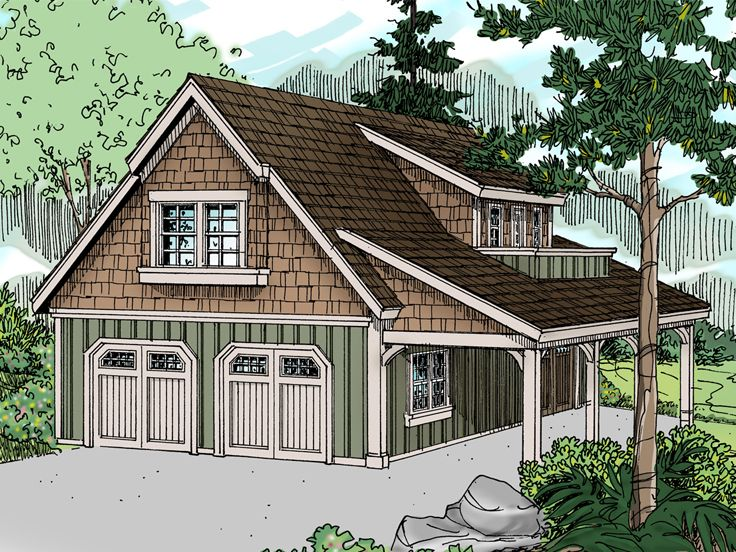 Carriage house plans craftsman style carriage house plan for Garage apartment plans and designs