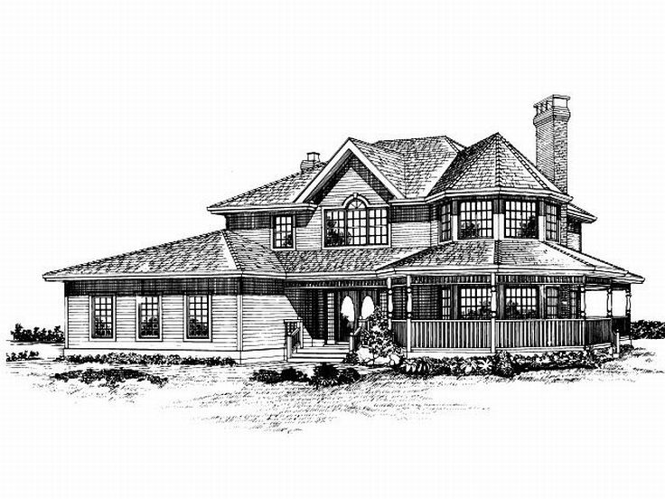 Plan 032h 0030 find unique house plans home plans and floor plans at - Large victorian house plans ...
