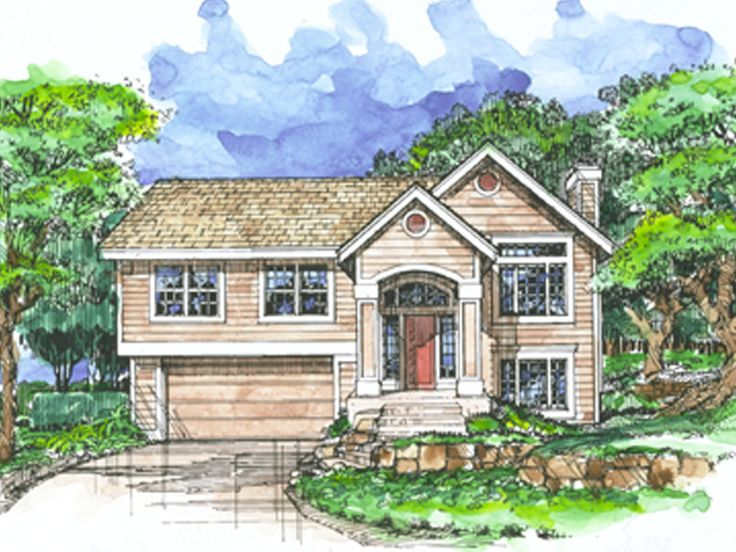 Split-Level House Plan, 022H-0088