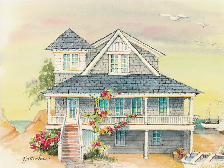 Coastal Home Plan, 041H-0140