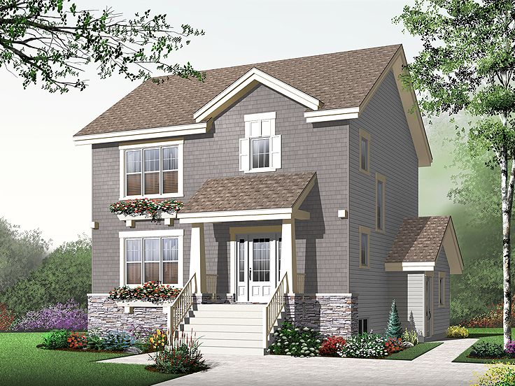 Two-Story House Plan, 027H-0219
