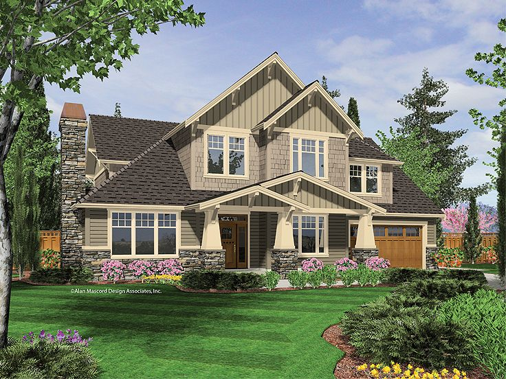 Craftsman Home Plan, 034H-0123