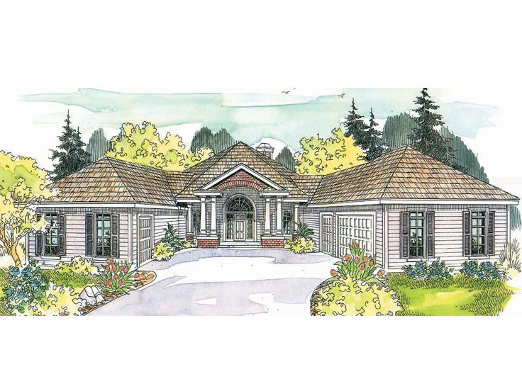 Contemporary House Plan, 051H-0038