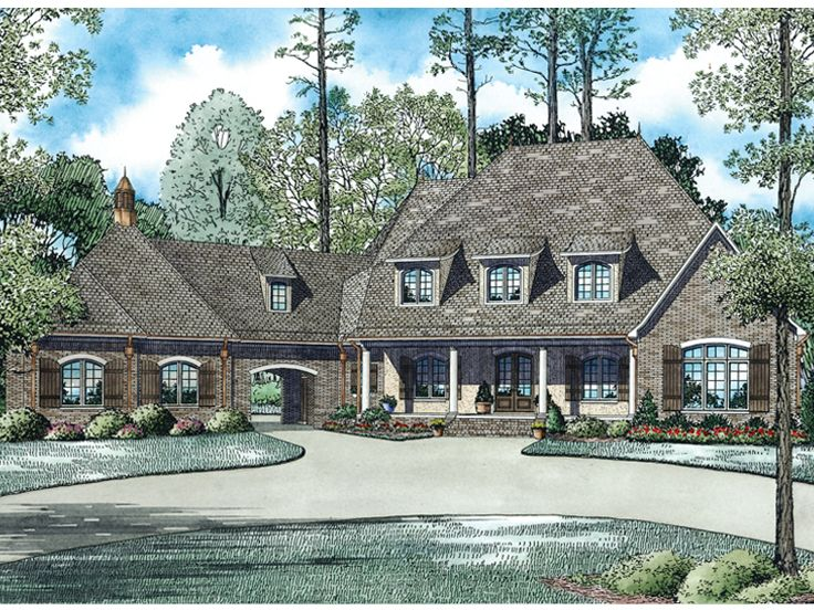 European House Plan, 025H-0308