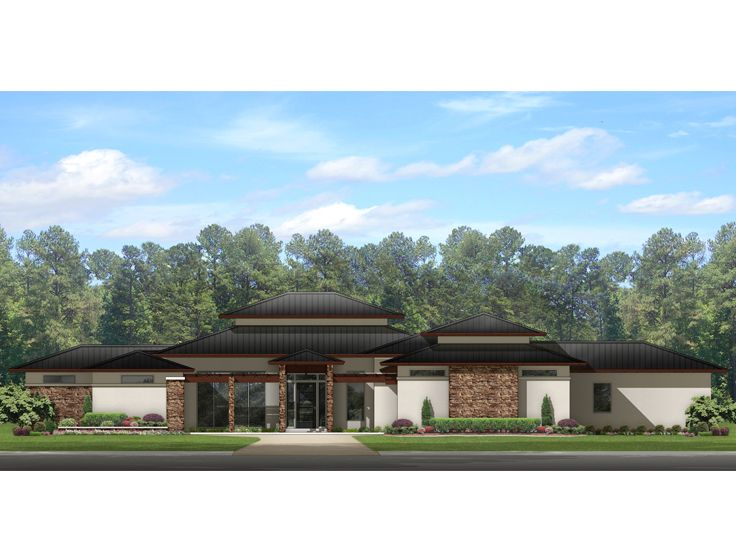 Contemporary House Plan, 064H-0088
