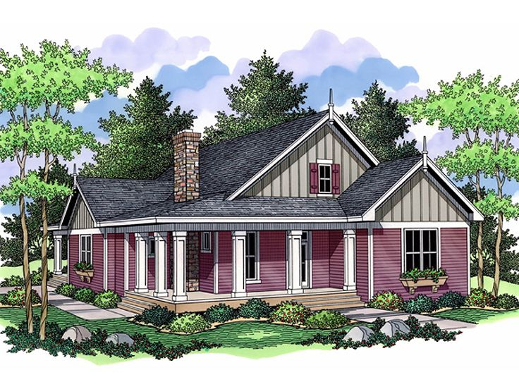 Country House Plan, 023H-0093