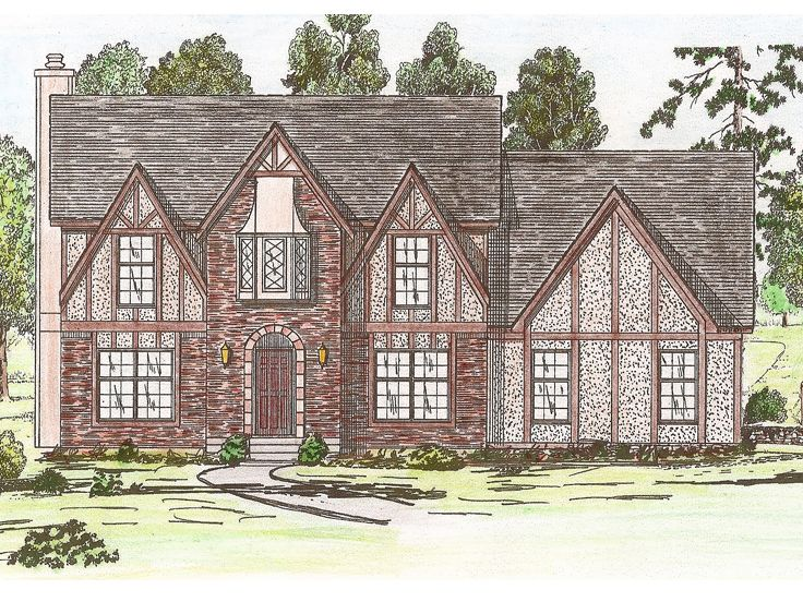 Tudor House Plan, 009H-0050