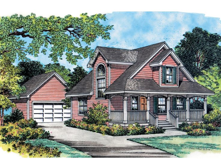 Small Country Home Plan, 043H-0010
