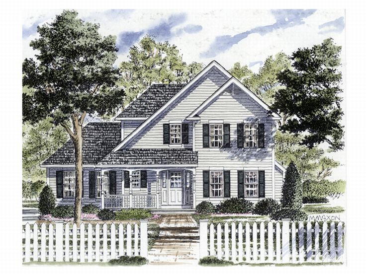 Modified cape cod house plans plan 014h 0040 find unique for Modified cape cod house plans
