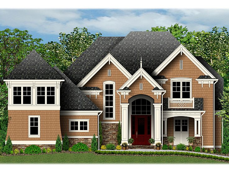 Two-Story House Plan, 049H-0006